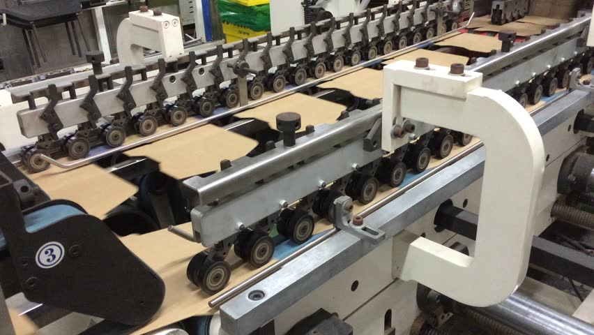 Folding Machine, Carton, Box, Kraft Stock Footage Video (100% Royalty-free)  15240370 | Shutterstock