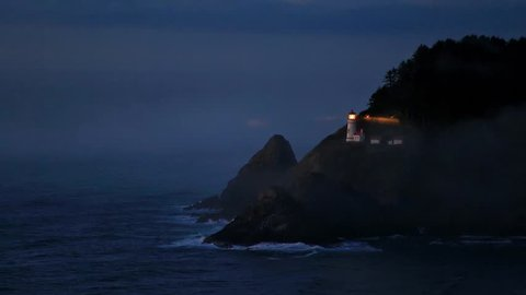 Heceta Lighthouse on Route 1 at the Oregon coast