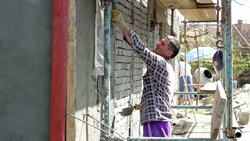 Plastering A Brick Wall Sand And Cement Rendering On Brick Wall