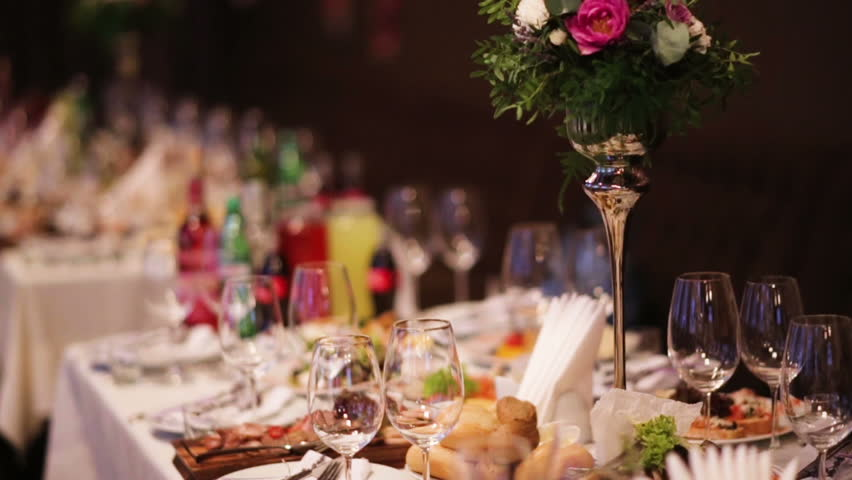 Fancy Restaurant Background beautiful wedding decoration made of flowers of different kinds