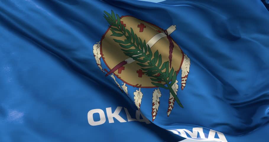 Ultra realistic looping flag: Oklahoma Flag