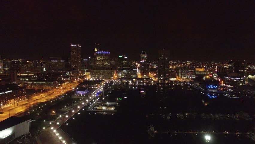 Baltimore at Night | Shutterstock HD Video #15316270