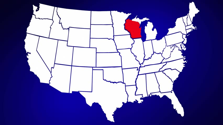 Wisconsin Map Stock Footage Video Shutterstock