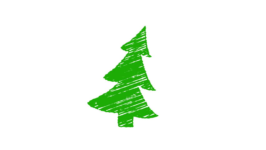 Christmas Tree White Background.Christmas Tree Painted With Chalk Stock Footage Video 100 Royalty Free 15370630 Shutterstock