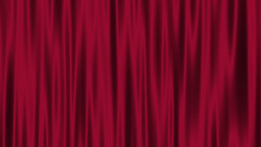 Curtain Felt Velvet Waving Fabric Motion Background Loop Red