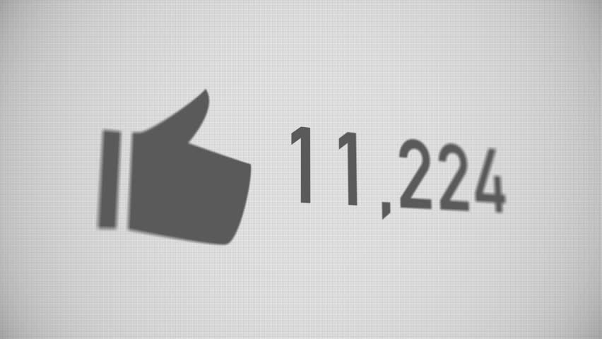 A close up shot of likes being counted on a social network page. Perspective version.  	 | Shutterstock HD Video #15482830