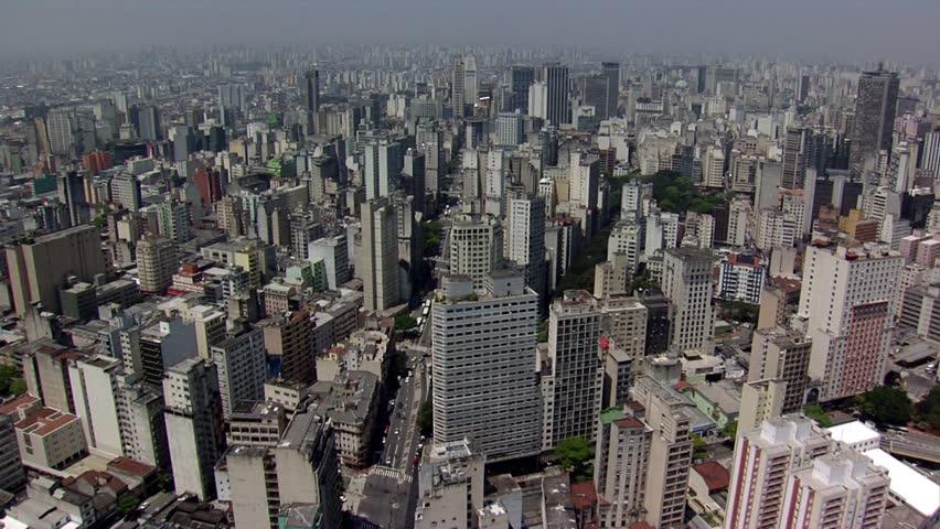 SAO PAULO BRAZIL - AERIAL VIEW PRAÇA DA REPBULICA | Shutterstock HD Video #15549601