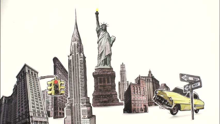 Stock Video Clip Of New York City Landmarks Buildings Cut Shutterstock