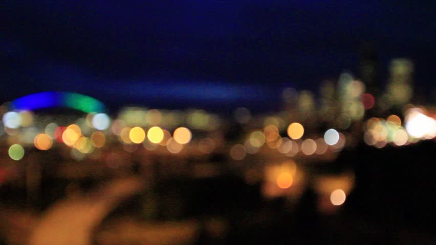 night city lights and traffic background  out of focus background with blurry unfocused city