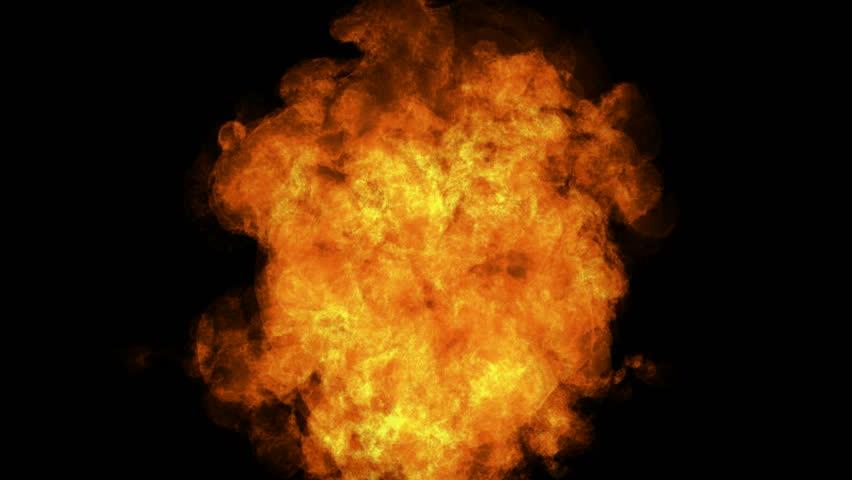 high detailed alpha matted fire