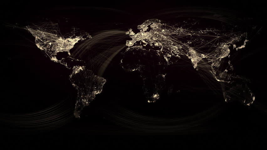 Network lines lighting up world map 4k black and white version glowing network lines lighting up world map gold version hd stock video clip gumiabroncs Image collections