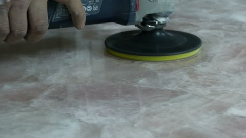 Professional Marble polishing in factory