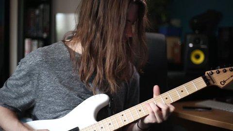 Metal Avid Plays Electric Guitar