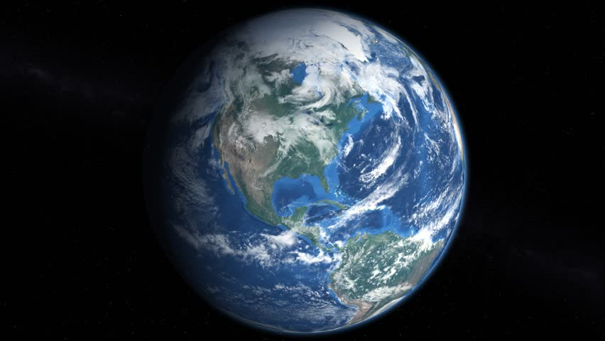 "Slowly rotating earth 360 4k, view of the northern hemisphere. Ultra high resolution allows you to zoom and pan. ""Elements of this image furnished by NASA"". 3D rendering. Last frame is the alpha matte"