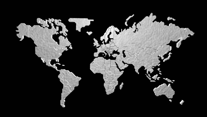 World map sketching looping animation black and white 4k 3d render earth map in motion hd stock video clip gumiabroncs Gallery