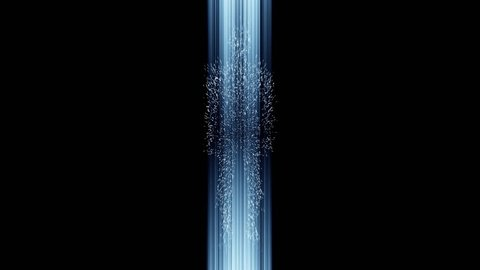 silhouette of a human figure moving in the space through the teleport, hyperspace jump 4K