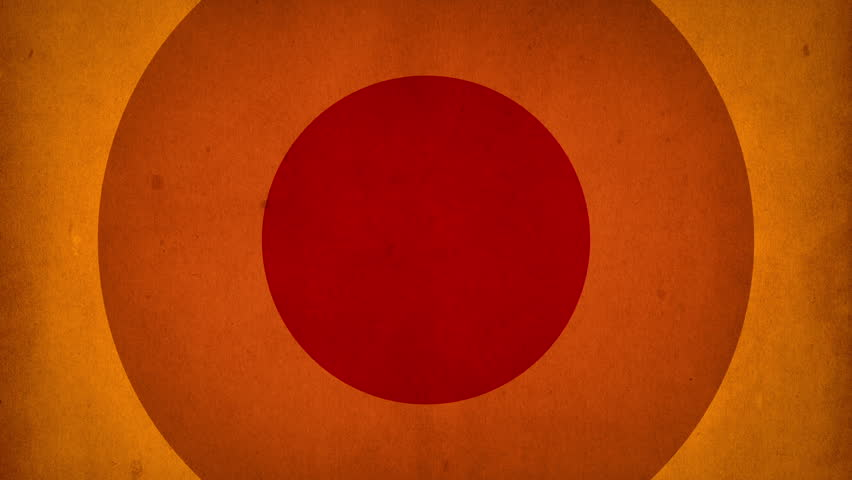 Abstract background with animation of moving retro patterns from colorful circles like sun beams. Retro radial background. Animation of seamless loop.