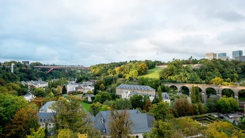 Time Lapse of Luxembourg City Countryside -  Europe