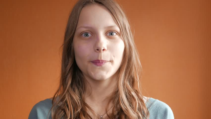 Teenage Girl Smiling. 4K UHD #15978010