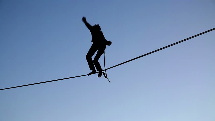Aerialists Falls off Tightrope
