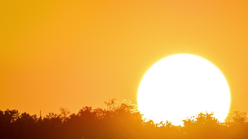 Big Huge Red Hot Sun Sunset Sky Huge Big Hot Sun Red -2599