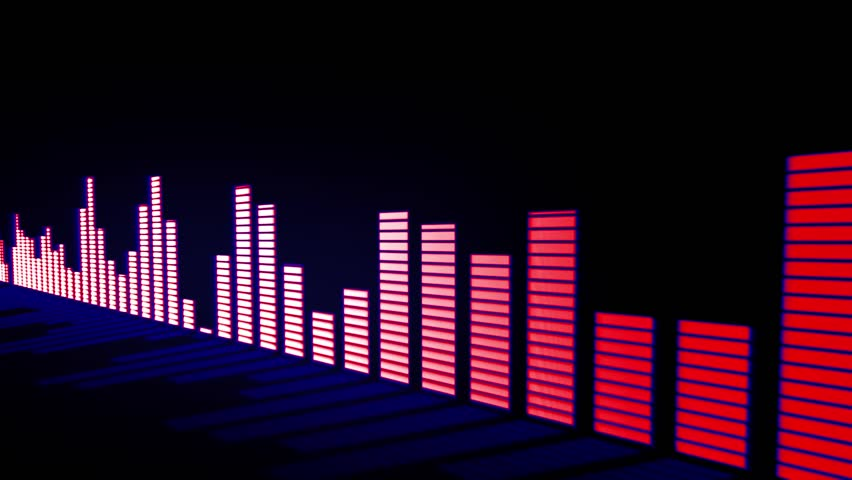 Audio Equalizer Bars Moving Music Control Levels