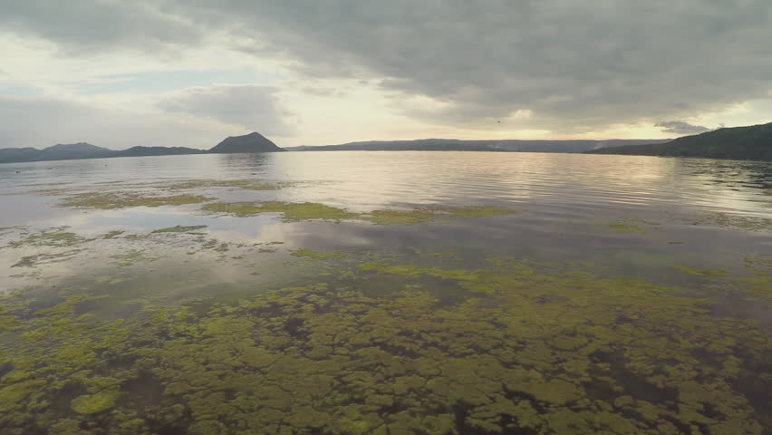 Camera flying over Taal Lake | Shutterstock HD Video #16034080