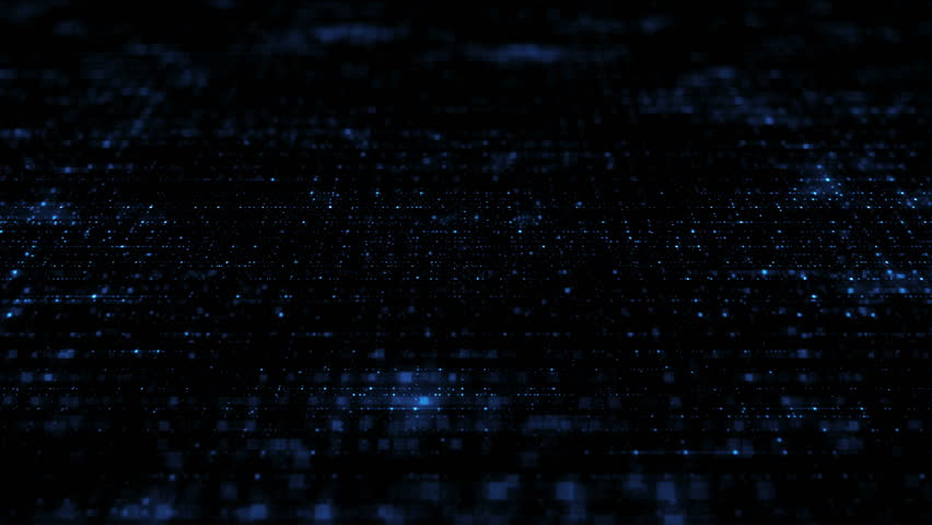 loopable abstract digital technology background made of particles