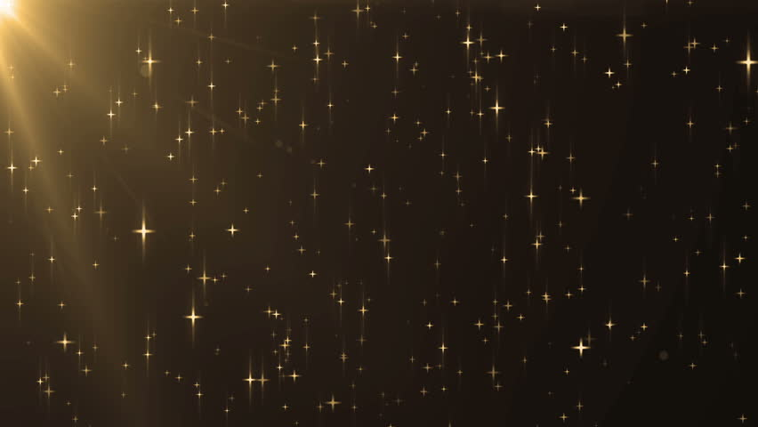 gold and yellow star sparkle background stock footage