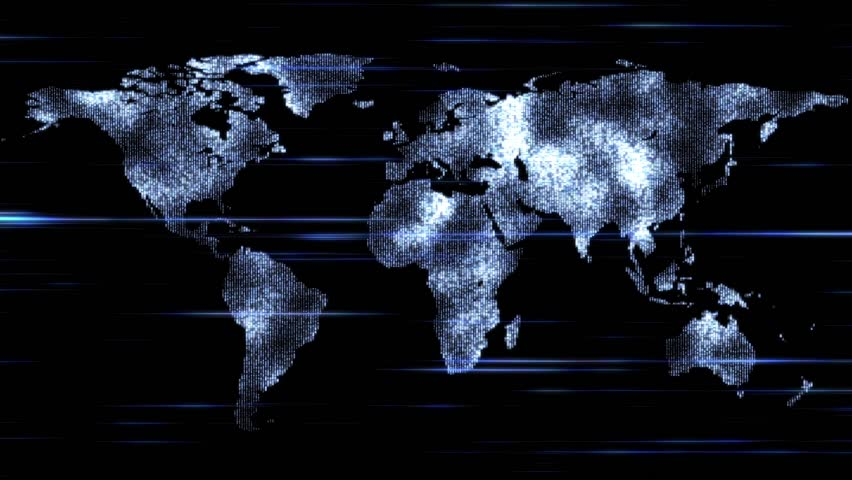Videoclip de glowing network lines lighting up world map shutterstock hd0010digital world map motion graphics gumiabroncs Choice Image