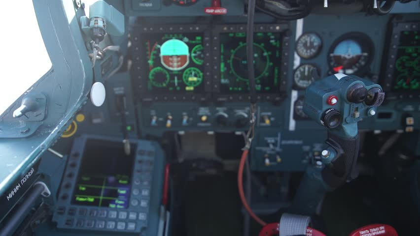 Russian Military Airplane cockpit view | Shutterstock HD Video #16070638