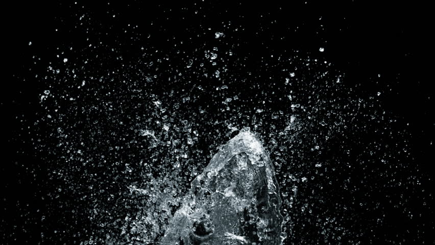 High speed camera shot of an water element, isolated on a black background. Can be pre-matted for your video footage by using the command Frame Blending - Multiply.  | Shutterstock HD Video #16080868