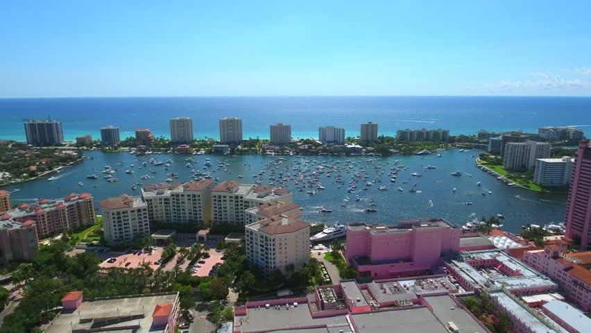 Aerial video of Boca Bash Boca Raton Florida