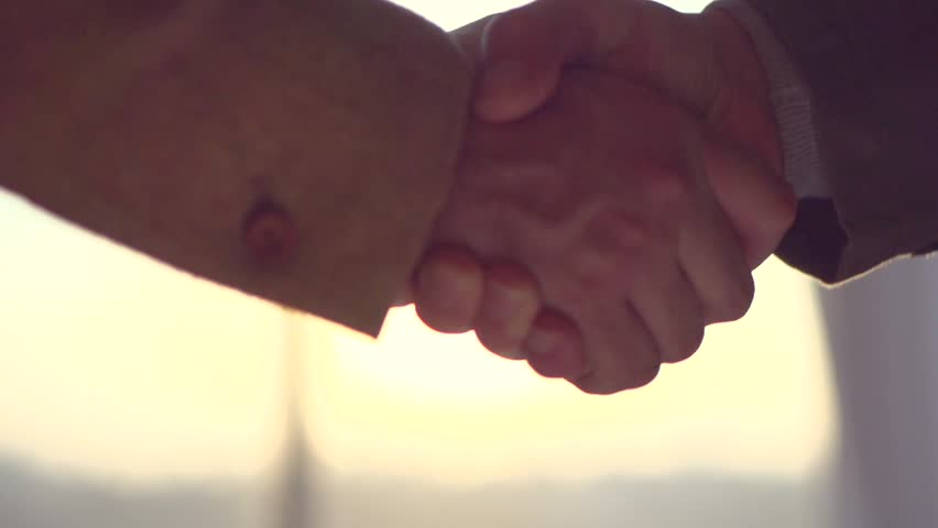 Businessmen shaking hands in the office, closeup. Good deal, business concept. Two unrecognizable business people, Business handshake. Slow motion 240 fps, HD 1080p stock video footage | Shutterstock HD Video #16143850