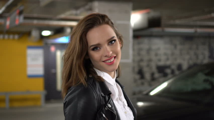 Stock Video Clip Of Sexy Woman Wearing Leather Jacket And -6779