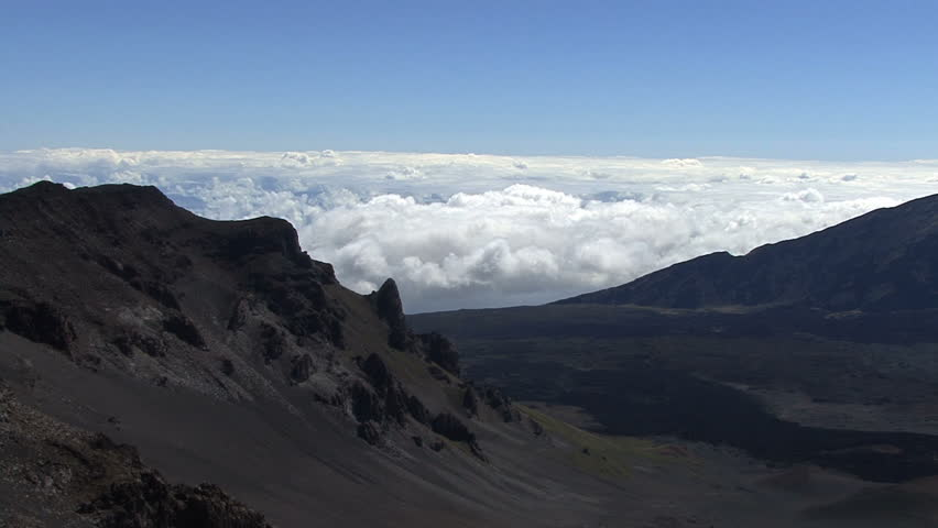 October 2011 hawaii view from haleakala volcano stock footage october 2011 hawaii view from haleakala volcano hd stock video clip publicscrutiny Image collections