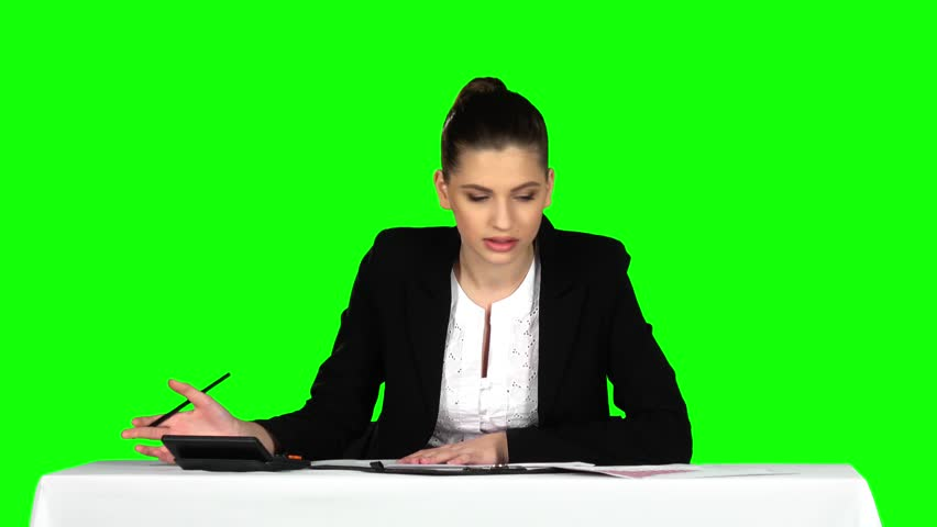 Young businesswoman overwhelmed by too much paperwork in office. Green screen | Shutterstock HD Video #16231180