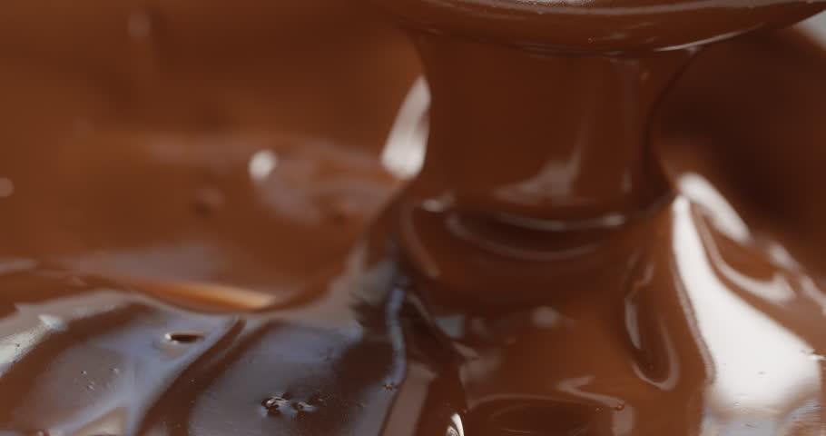 dark melted chocolate flow, prores 4k footage #16251160
