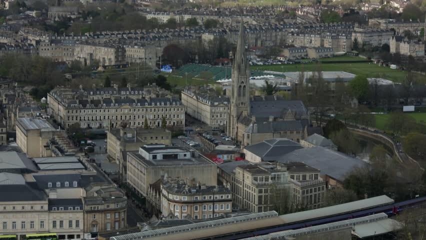 Establishing shot of the Bath City, England | Shutterstock HD Video #16251850
