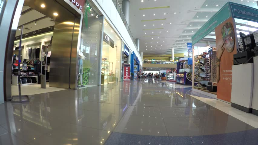 SAN PABLO CITY, LAGUNA, PHILIPPINES - APRIL 29, 2016: array of Modern indoor shopping mall boutique stalls. tracking shot | Shutterstock HD Video #16324360