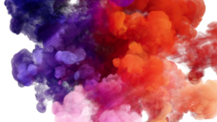 colored smoke explosion on white  slow motion  with alpha spray paint vector line spray paint vector pack