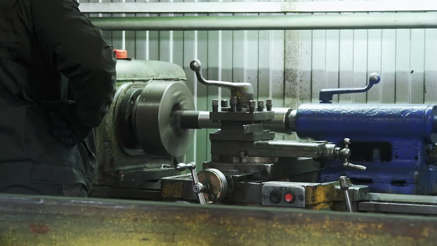 Turning Lathe in Action facing Operation Stock Footage Video (100%  Royalty-free) 16354810 | Shutterstock