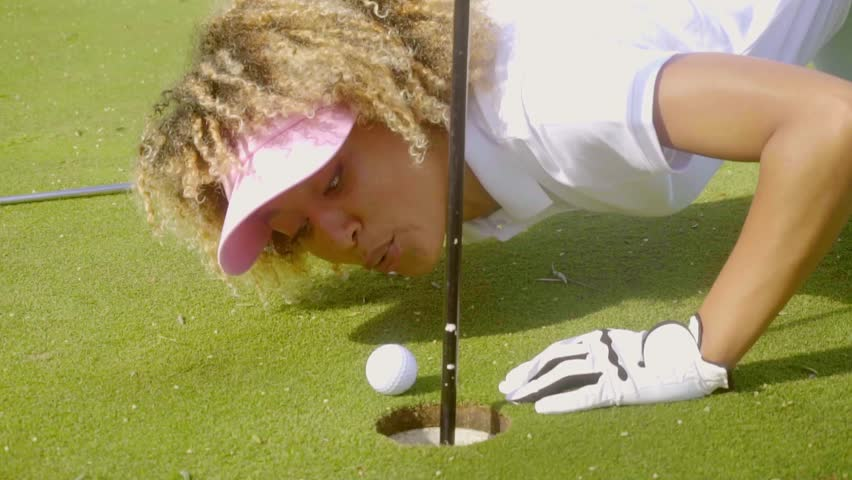 Two Older Women Play Golf Stock Footage Video (100%