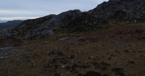 AERIAL; Tryfan Reveal, Ogwen Valley, Snowdonia