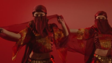 Beautiful traditional oriental belly dance. Studio shoot . Shot on RED EPIC DRAGON Cinema Camera in slow motion.