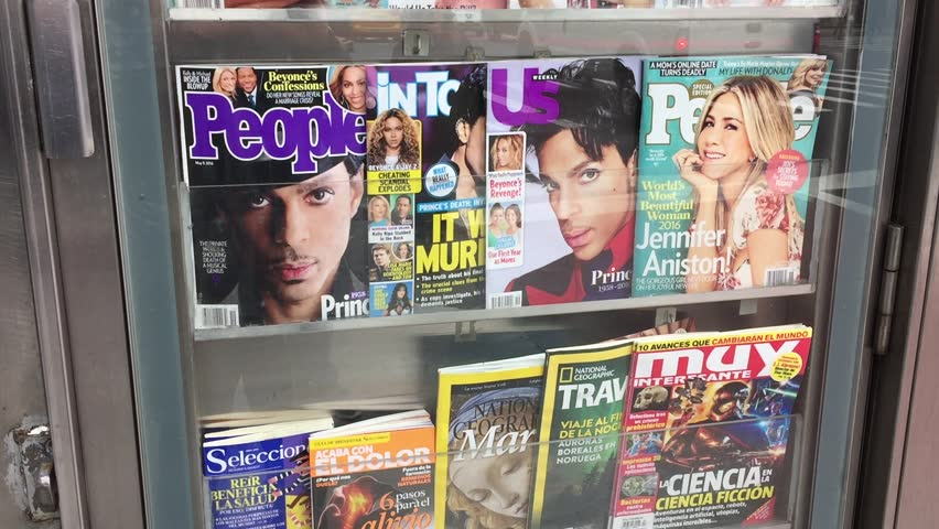 NEW YORK CITY - APRIL 2016: Prince, an Artist Who Defied Genre, Is Dead at 57.  Songwriter, singer, producer, one-man studio band consummate showman, died at home, in Chanhassen, Minn.  Prince death.
