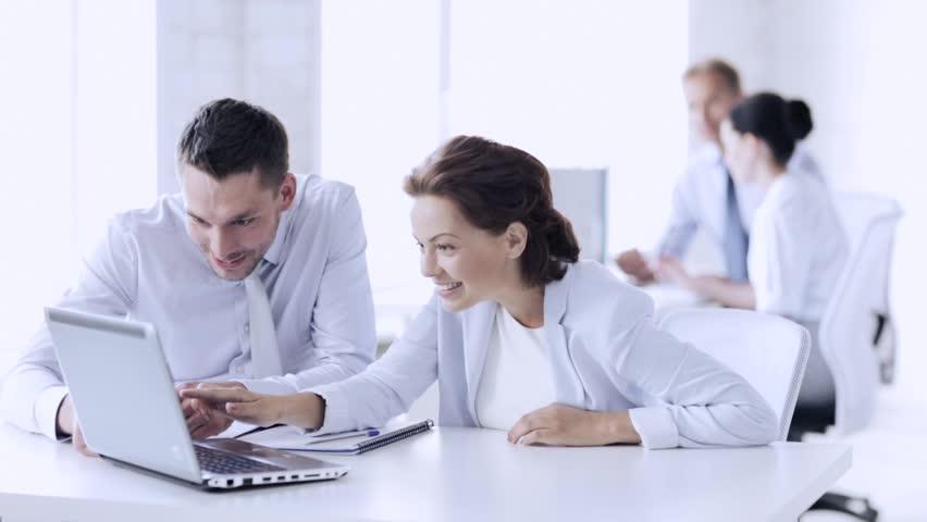 Business people in office making high five gesture | Shutterstock HD Video #16465090
