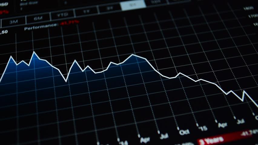 Financial Chart Symbolizing Risk Collapse Business Crisis Recession Crash Declining Stock Market Decrease Line Internet Trading