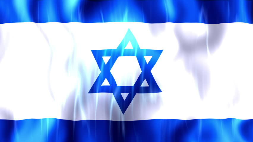 Israel  Flag, Ultra HD, 3840x2160 Pixels, Realistic Flag Animation,   High Quality Quicktime animation Movie works with all Editing Programs,   20 Seconds Duration