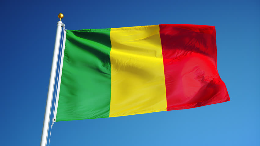 Senegal Flag Alpha Mask Stock Footage Video Shutterstock - Mali flags